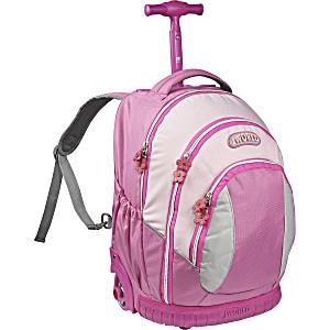 Школьный рюкзак на колесах – ранец JWORLD Sweet Pink – арт. KRB001012 (для 3-5 класса, 21 литр)