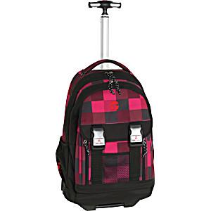 Школьный рюкзак на колесах Take It Easy Madrid Огонь + дождевик
